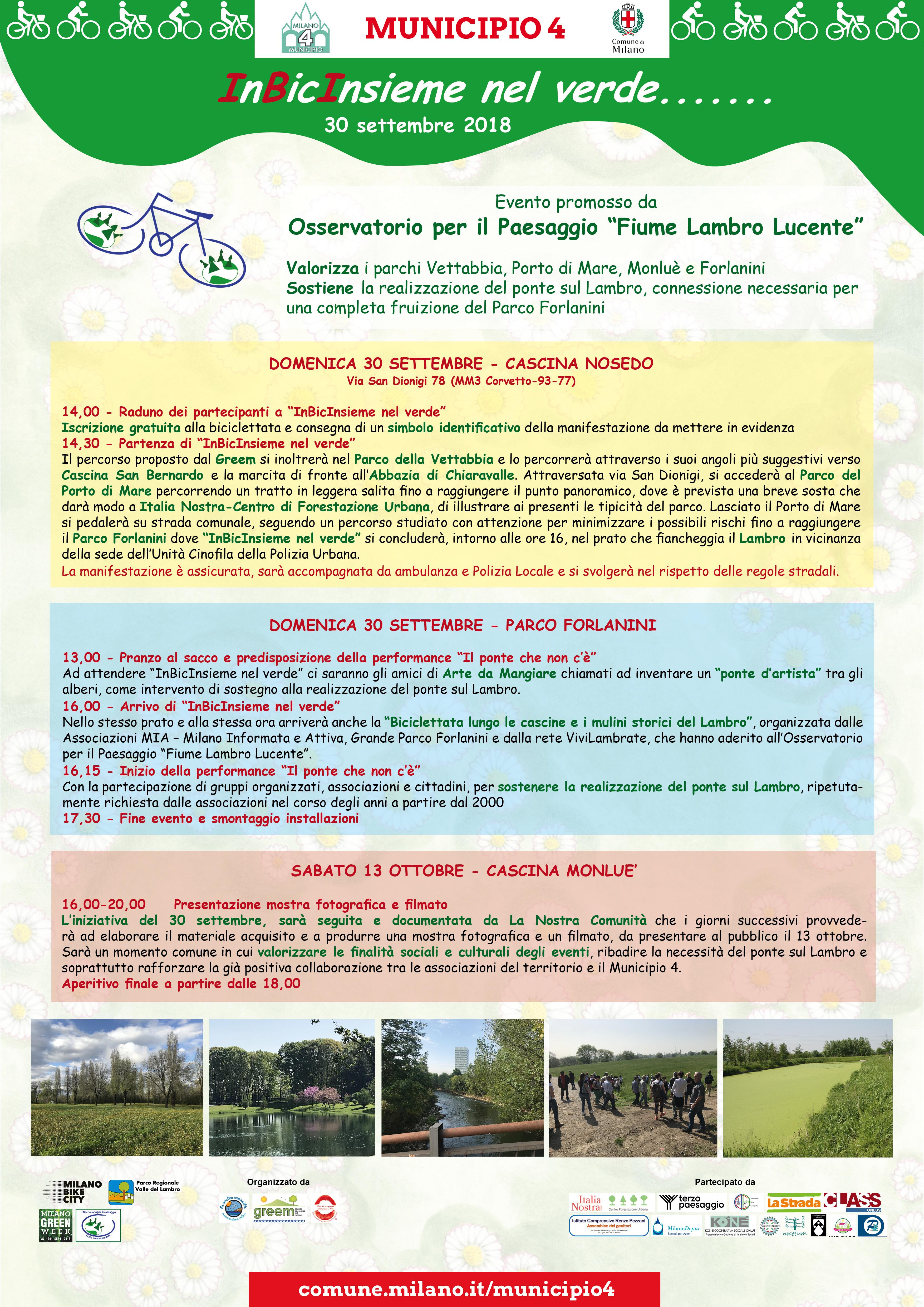 evento Bici insieme dell'Osservatorio Lambro Lucente