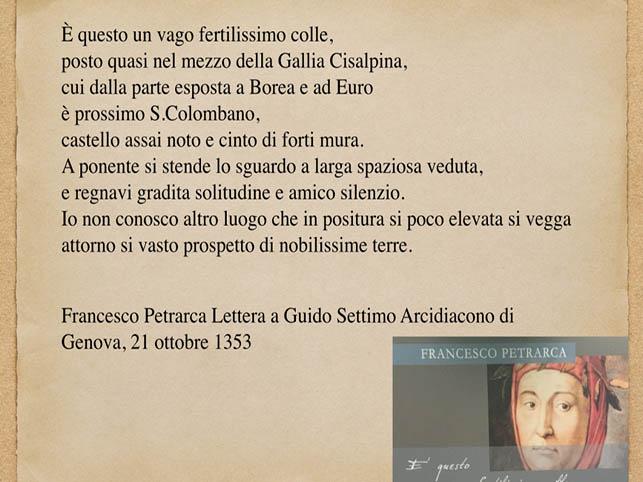 San Colombano al Lambro e Francesco Petrarca